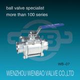 Acero inoxidable 304 de la válvula de bola sanitarias para Agua
