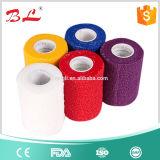Повязка эластика повязки слипчивой повязки свободно образцов кохезионная