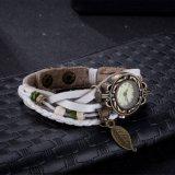 Couro branco do estilo quente do vintage da venda com bracelete de relógio