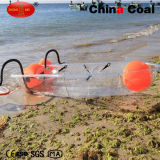 2 Asientos de plástico transparente del pedal de pesca barco YM-01
