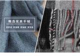 100% lenço de lã lenço / casaco de lã de lã masculina e lenço de xadrez e cachecol de lã de cachemira