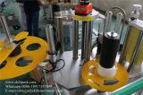 Dos motores de etiquetado tarro redondo máquina de etiquetado adhesiva envuelta de la etiqueta engomada