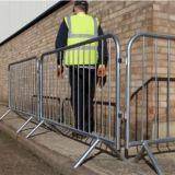 Barriera galvanizzata di controllo di folla con i piedi piani