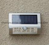 Garten-Landschaftszaun-Yard-Pfad-Licht-Lampe der Sonnenenergie-Wand-Montierungs-9LED im Freien