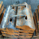粉砕機のための鋳造の顎の版、影響の版、はさみ金および製造所