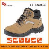 A segurança amarela do couro da vaca de Nubuck carreg sapatas de segurança industriais do trabalhador