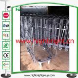Z Frame Base Steel Wire Mesh Laundry Cart