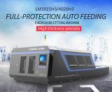 모두는 자동 공급 시스템으로 섬유 Laser 절단기 Lm3015h3를 덮는다