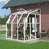 Gazebo en verre en bois plaqué en aluminium de double vitrage, Sunroom en aluminium matériel de jardin de bâti d'alliage d'aluminium