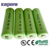 低い自己放電14500 AAのサイズ2200mAh NiMH電池