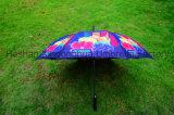 De volledige Paraplu van het Golf van de Glasvezel van de Druk Wind met Embleem Customerized (gol-0027FAC)