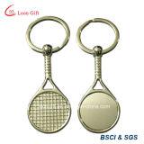 금속 디자인 테니스 또는 배드민턴 라켓 열쇠 고리 승진