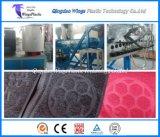 Línea de producción plástica de la estera del piso, alfombra de los materiales del PVC que hace la máquina