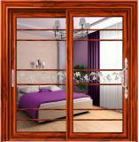 Раздвижные двери порошка Coated алюминиевые с двойным Tempered стеклом