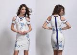Платье женщин сексуальное короткое с платьем -Плеча плотно