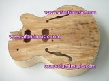 DIY Spaletd Maple Hollow Body Guitar Luthier Kit (AHB-126)