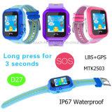 2g imperméabilisent la montre de traqueur des gosses GPS avec l'écran tactile D27