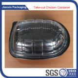 El plástico disponible platea la bandeja con la cubierta