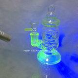 Plataformas petroleras de cristal del tazón de fuente de tubo de Perc del tubo de los tubos de agua del aparejo del LENGUADO del tubo embriagadoras