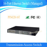 Transmisión de Dahua administrado Accesorios CCTV Seguridad 16 puertos Ethernet Switch (PFS4220-16T)