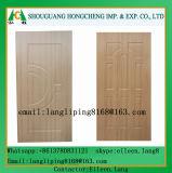 Piel de madera de la puerta del laminado HDF de la chapa