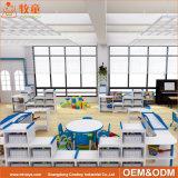 Amerika-Eichen-materielle festes Holz-Tisch-Vierpersonenmöbel für Vorschulkinder