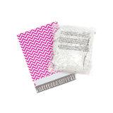 Las muestras gratuitas de plástico Color Negro correo plano sobre con el logotipo blanco