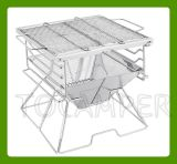 En acier inoxydable Barebecue grill pliable portable pour le camping (MW-A004A)