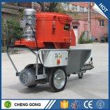 吹きかかる建設用機器の壁乳鉢機械を塗る