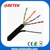 Outdoor cabo de rede Cat5e com Messenge