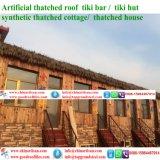 Tiki 바를 위한 자연적인 보기 종려 합성 이엉 또는 Tiki 오두막 합성 지붕을 짚으로 인 초막 물 방갈로 비치 파라솔 11