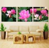 3 Pintura al óleo del arte Panel de pared de Lotus Pintura de decoración del hogar Lona Fotos de Sala Lámina Mc-262