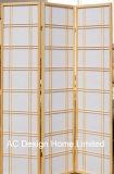 لون طبيعيّة زخرفيّة [ريس ببر] [نون-ووفن] وخشبيّة [جبنس ستل] يطوي [شوجي] شاشة [إكس] 3 لوح
