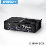 Qotom-Q310p Barebone System Doppel-Mini-PC LAN-X86 Fanless