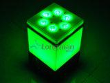 Parcan LED 9*14W Rgbwauv 6 em 1 Iluminação Parcan Projector Estágio Sem Fio