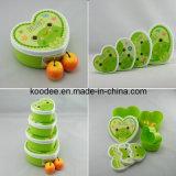 1つの子供のピクニックお弁当箱に付き美しいプラスチック4つ