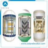 Cabine panorâmica de vidro luxuosa para observação Elevador de passageiros (OS41)
