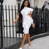 Weißes Kleid-Abend-Kleid-Frauen-Partei-Kleid