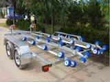 انبثاق زلّاجة مقطورات مع محور العجلة مزدوجة