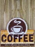 Il disegno della Camera di caffè imprime la piastra della decorazione della parete del metallo di stampa