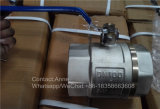 Válvula de esfera de bronze sanitária usada na água (YD-1023)