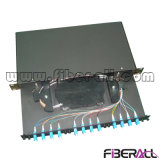 24f High Density Fiber Optic Patch Panel com LC Chicotes