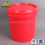 鋼鉄ハンドルが付いている15L熱く赤いHDPEの産業バケツ