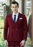 Terno de vestido do casamento da cor vermelha da forma dos homens