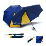 カスタム自動開いたマニュアルの終わり2の折る傘