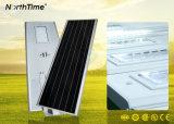 Lâmpada de rua solar do diodo emissor de luz do brilho com controle de tempo de controle claro