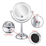 8 ingrandimento dello specchio 5X di trucco di pollice LED
