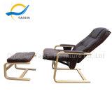 Alta Contrapressão Cadeira de lazer com almofada de PU Café