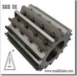 Reciclagem de plásticos Triturador de eixo único blade para tubo tubo plástico mobiliário de madeira de cisalhamento de Corte
