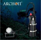 Archon 4000lm 크리 말 Xml2 - U2 LED*4PCS 재충전용 양철통 잠수 토치